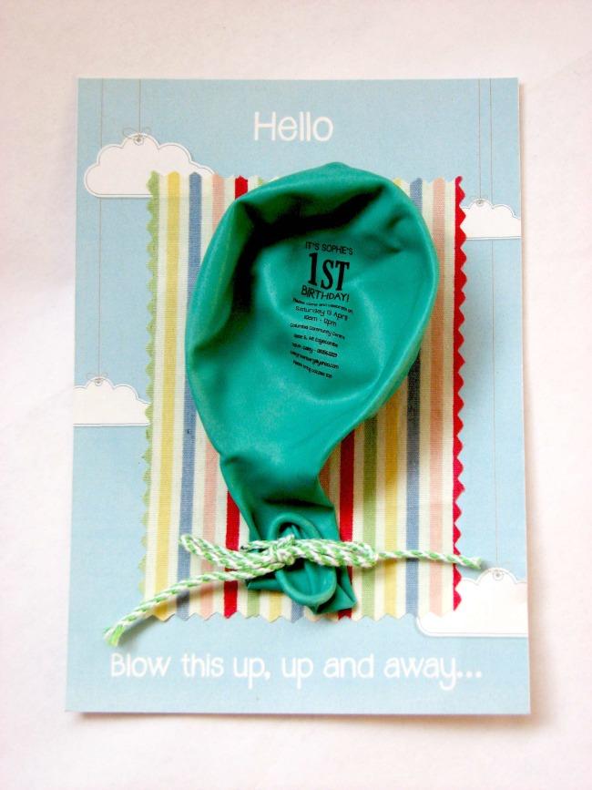 1st birthday – Invitation