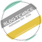 Blogtember: 9 September