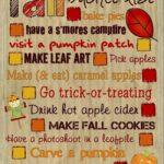 Blogtober14: Your Fall Bucket List