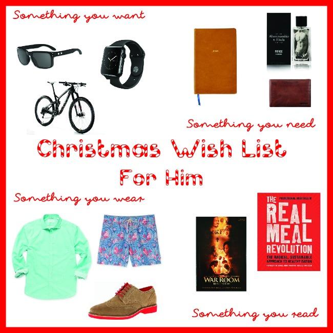 Christmas Wish List: For Him