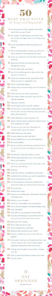 Fifty Best Practices For Living a Well Designed Life