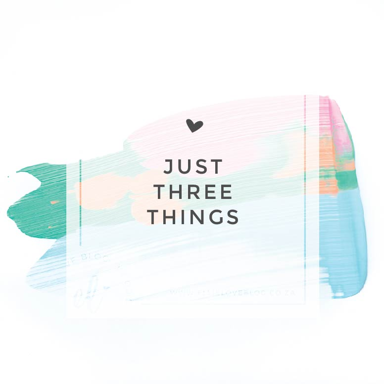Just Three Things