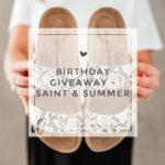 Birthday Giveaway – Saint & Summer